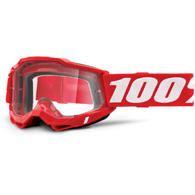 100% Accuri OTG Goggles Gen2 neon red/clear